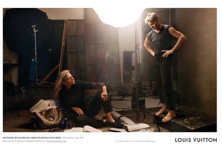 louis vuitton punta l obiettivo su annie leibovitz con mikhail baryshnikov very cool. Black Bedroom Furniture Sets. Home Design Ideas