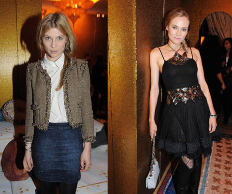 Chanel Pre-Fall 2011 Clemence Poesy Diane Kruger
