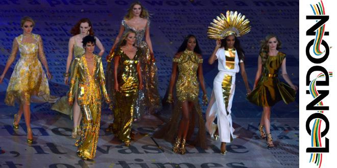 modelle cerimonia chiusura Olimpiadi Londra