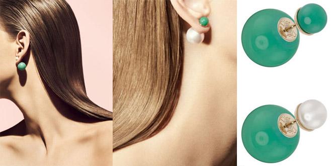 orecchini perle Dior