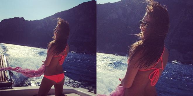Lea Michele selfie bikini
