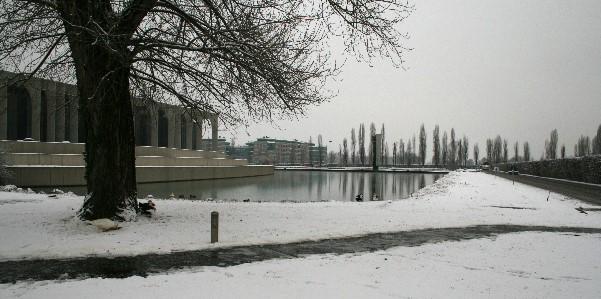 Neve a milano 2 laghetto di Segrate