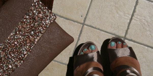 sandali e pochette