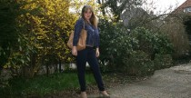 Outifit superchic: blu e beige in YSL
