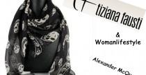 Shopping// Il fulard in seta di Alexander McQueen su Tiziana Fausti