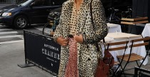 Star Style// Solange Knowles ed il coat maculato di By Malene Birger