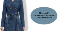 Il trench? E' in denim per Love Moschino