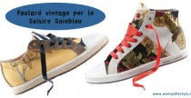 New Brand// Soisire Soiebleu e le sneakers foulard