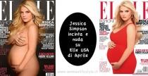Cover Girl// Jessica Simpson incinta sulla cover di Elle di Aprile