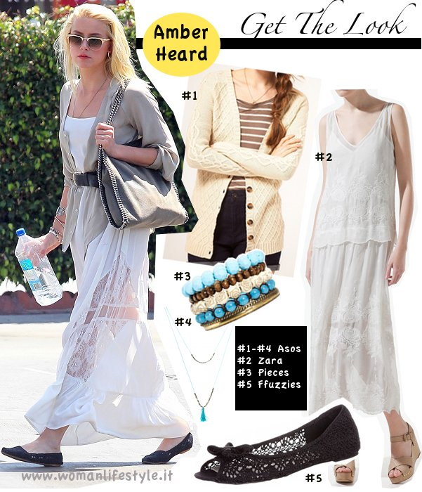 Get The Look// Il maxi dress bianco di Amber Heard
