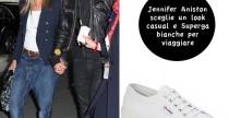 Star Style// Jennifer Aniston e le Superga bianche