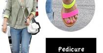 Beuty// Pedicure multicolor per Jessica Alba