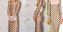 """Star Style// Kristen Dunst con l'abito """"damier"""" di Louis Vuitton Spring/ Summer 2013"""