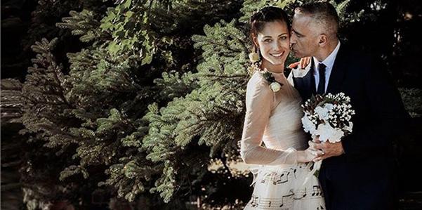 Eros Ramazzotti e Marica Pellegrinelli sposi in Maison Valentino