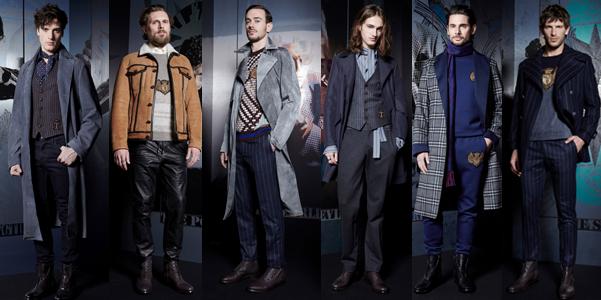 L uomo Trussardi che sfila a Milano Moda Uomo per l autunno inverno 2017-18  veste un guardaroba sintetico f2d54c422e9