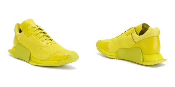 Le sneakers di Rick Owens per Adidas giallo neon