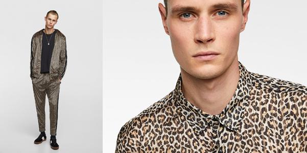 La stampa leopardo da Zara si porta anche al maschile