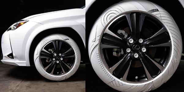 Gli pneumatici Lexus ispirati alle Nike