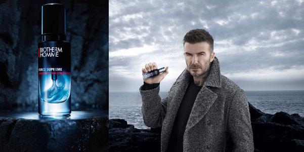 Il segreto di bellezza di David Beckham (soffiata: c'entra Biotherm)