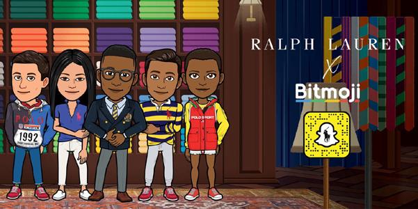 Ralph Lauren veste le tue Bitmoji