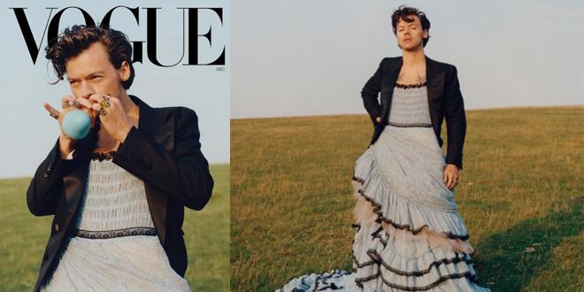 Harry Styles è il primo uomo sulla cover di Vogue e indossa un vestito