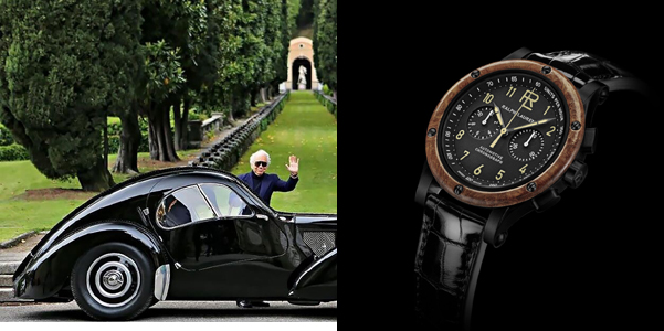 Automotive Chronograph Reloj Woodbezel di Ralph Lauren