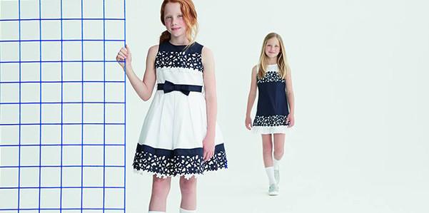 outlet store a85f7 82b28 Bianco e blu per gli abiti da cerimonia Elsy | OhMyBaby!