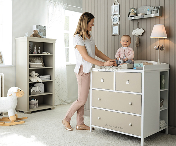 ourson il fasciatoio nordico di maison du monde ohmybaby. Black Bedroom Furniture Sets. Home Design Ideas