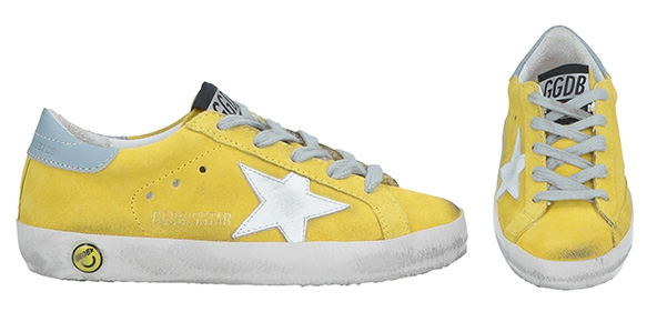 Giallo sole per le sneakers Golden Goose Delux Brand
