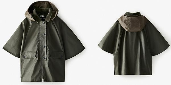 La mantella Zara per essere stilosi anche sotto la pioggia