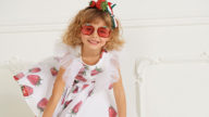 Monnalisa Tricolor flag and Strawberries SS 21