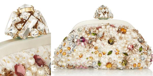 Dolce Gabbana clutch cristalli perle