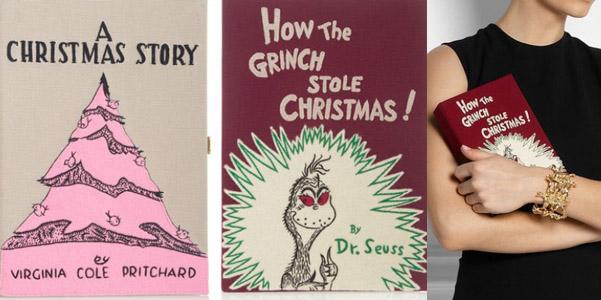 Olympia Le Tan Christmas book clutch
