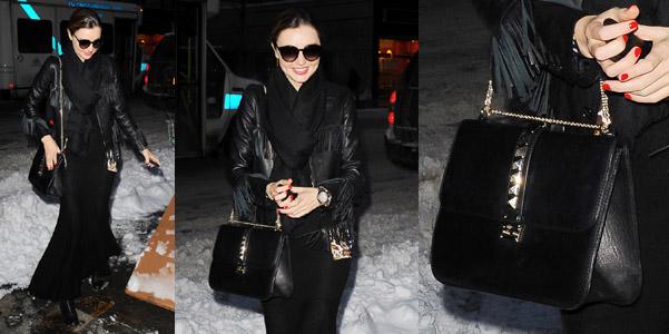 Miranda Kerr Valentino Lock Shoulder bag