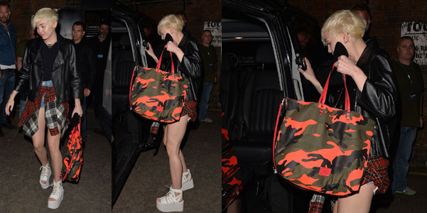 Miley Cyrus Valentino Neon Camo Rockstud