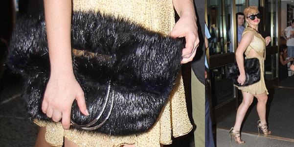 Lady Gaga Balenciaga pelliccia