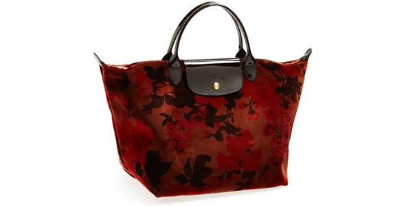 Le Pliage Fleurs Velvet Longchamp
