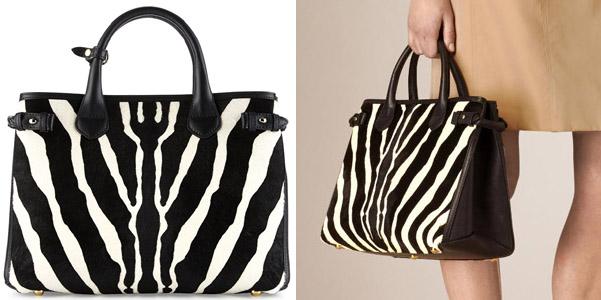 banner bag burberry zebra