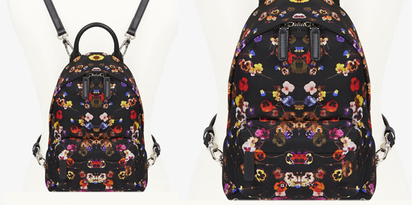 Nano Backpack di Givenchy con stampa floreale