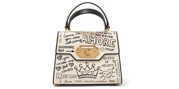 metà fuori goditi la spedizione in omaggio selezione mondiale di Welcome di Dolce e Gabbana, la borsa con i graffiti   OhMyBag!