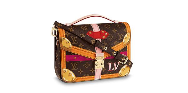 Le borse illustrate come bauli di Louis Vuitton