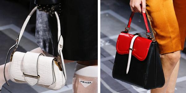 cfe09bdfc0 Sulla passerella di Prada sfilano le borse della prossima primavera estate  2019 che sorprendono per la loro varietà. Non mancano né le belt-bag che  hanno ...