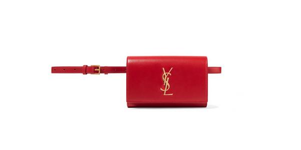 Belt bag Kate di Saint Laurent in Rouge Eros