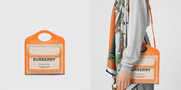 Mini Orange Pocket Bag di Burberry