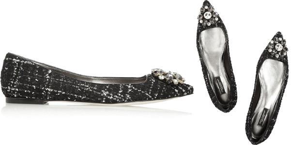 Ballerine tweed Dolce Gabbana