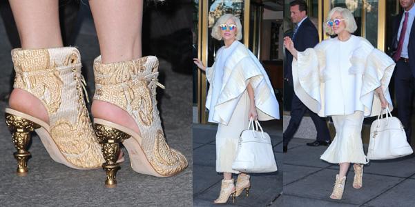 Lady Gaga scarpe Chanel