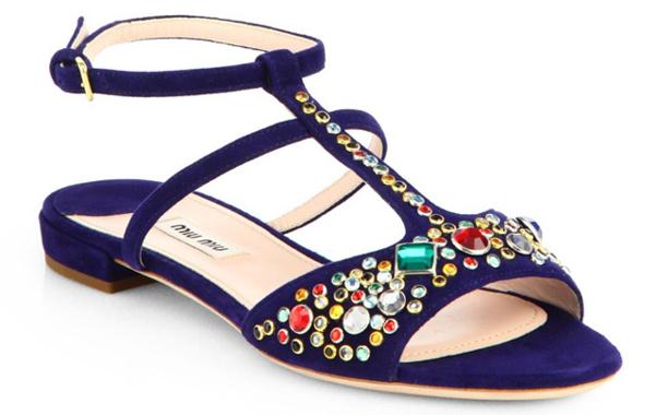 Miu Miu scarpe Jeweled