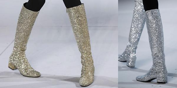 stivali glitter Saint Laurent