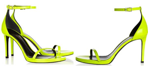 sandali neon Saint Laurent