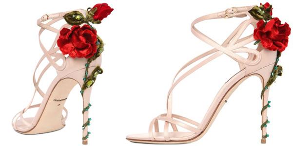 sandali rose dolce e gabbana